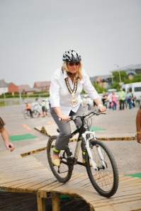 Me, on two wheels, trying out some of the new cycling routes at the Coalville Big Bike Ride.