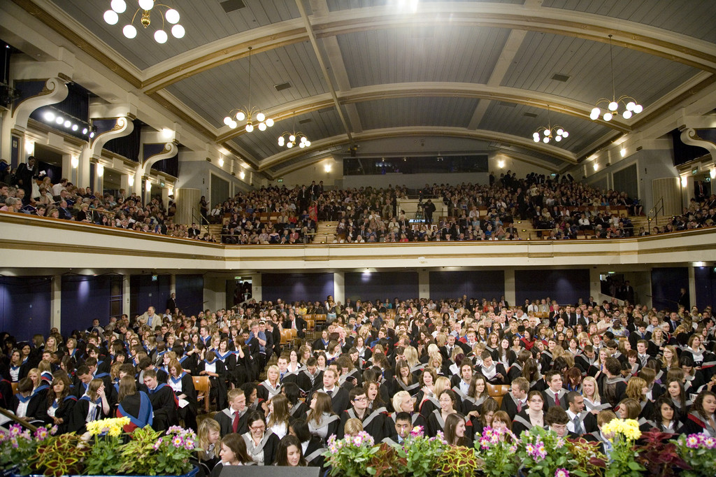 De Montfort Hall, for Leicester University's Graduation Ceremony. So ...