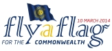 Fly a flag for the commonwealth logo