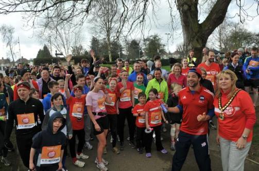 Sport relief runners