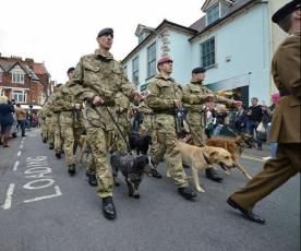 Royal Army Vet Corps march through Melton