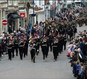 Royal Army Vet Corps marching band